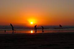 Puesta del sol en Bali fotos de archivo