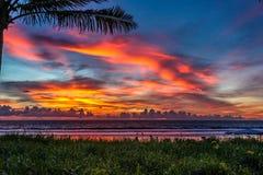 Puesta del sol en Bali Fotografía de archivo