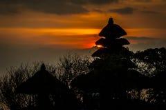 Puesta del sol en Bali Foto de archivo