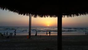 Puesta del sol en Batyam Foto de archivo