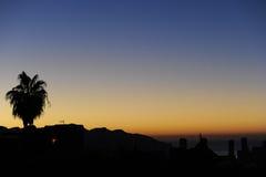 Puesta del sol en Benidorm Fotografía de archivo libre de regalías