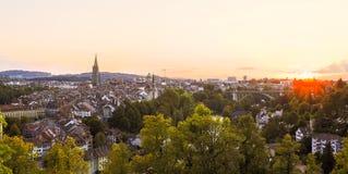 Puesta del sol en Berna fotos de archivo libres de regalías