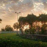Puesta del sol en Bhopal, Madhya Pradesh Fotos de archivo