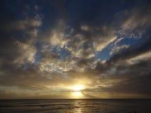 Puesta del sol en Bim Imagen de archivo libre de regalías