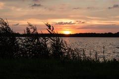 Puesta del sol en Blauwe Stad Imagen de archivo