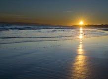 Puesta del sol en Bournemouth Imagen de archivo libre de regalías