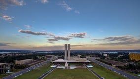 Puesta del sol en Brasilia Fotos de archivo libres de regalías