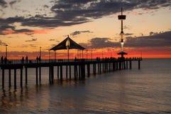 Puesta del sol en Brighton Foto de archivo libre de regalías