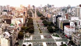Puesta del sol en Buenos Aires almacen de video