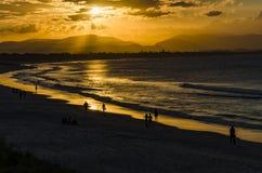 Puesta del sol en Byron Bay Imagen de archivo