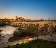 Puesta del sol en Córdoba fotografía de archivo