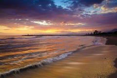 Puesta del sol en Cabopino Fotografía de archivo libre de regalías