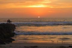 Puesta del sol en California Fotos de archivo libres de regalías