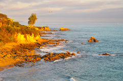 Puesta del sol en California Imagen de archivo libre de regalías