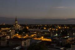 Puesta del sol en Camagüey Cuba Imágenes de archivo libres de regalías