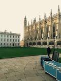 Puesta del sol en Cambridge Fotos de archivo libres de regalías