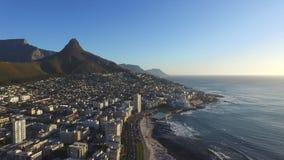 Puesta del sol en Cape Town almacen de video