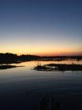 Puesta del sol en Charleston, Carolina del Sur Foto de archivo