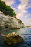 Puesta del sol en Chipre Fotos de archivo