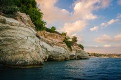 Puesta del sol en Chipre Imagen de archivo