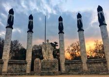 Puesta del sol en Ciudad de México Fotografía de archivo libre de regalías