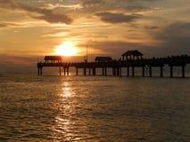 Puesta del sol en Clearwater fotos de archivo