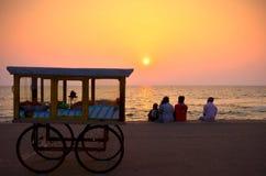Puesta del sol en Colombo Fotografía de archivo libre de regalías