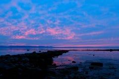 Puesta del sol en colores pastel fotografía de archivo libre de regalías