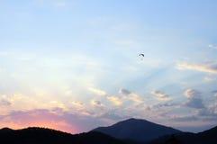 Puesta del sol en colores pastel Oludeniz Imágenes de archivo libres de regalías