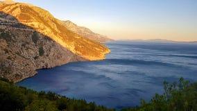 Puesta del sol en Croatia fotografía de archivo