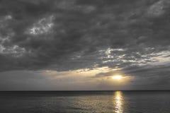 Puesta del sol en Cuba Foto de archivo