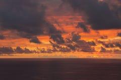 Puesta del sol en Cuba Imagen de archivo libre de regalías