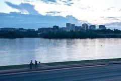 Puesta del sol en DC Imágenes de archivo libres de regalías