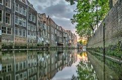 Puesta del sol en Dordrecht Imagen de archivo libre de regalías
