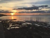 Puesta del sol en Dublín foto de archivo libre de regalías