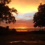 Puesta del sol en el Ashely Imagen de archivo libre de regalías