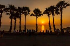Puesta del sol en el cabo del sur de Tailandia Imágenes de archivo libres de regalías