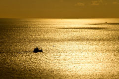 Puesta del sol en el cabo phuket Tailandia de Phromthep Fotos de archivo libres de regalías