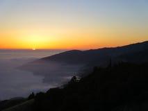 Puesta del sol en el camping de Prewitt Foto de archivo libre de regalías