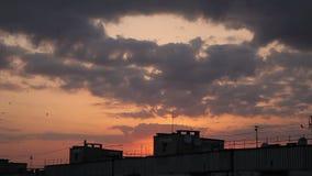 Puesta del sol en el cielo, Timelapse