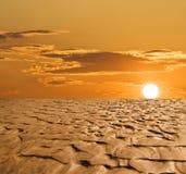 Puesta del sol en el desierto Fotos de archivo