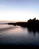 Puesta del sol en el embarcadero de la playa de Coronado Fotografía de archivo libre de regalías