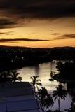 Puesta del sol en el Gold Coast Imagen de archivo