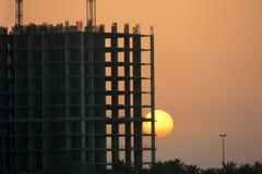 Puesta del sol en el golfo Imagen de archivo
