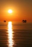 Puesta del sol en el golfo fotos de archivo libres de regalías
