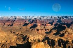 Puesta del sol en el Gran Cañón Imagen de archivo libre de regalías