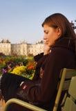Puesta del sol en el jardín de Luxemburgo Fotos de archivo