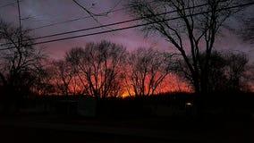 Puesta del sol en el kc fotos de archivo
