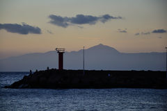 Puesta del sol en el la Aldea Gran Canaria Imagen de archivo libre de regalías