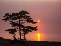 Puesta del sol en el lago Baikal Fotos de archivo libres de regalías